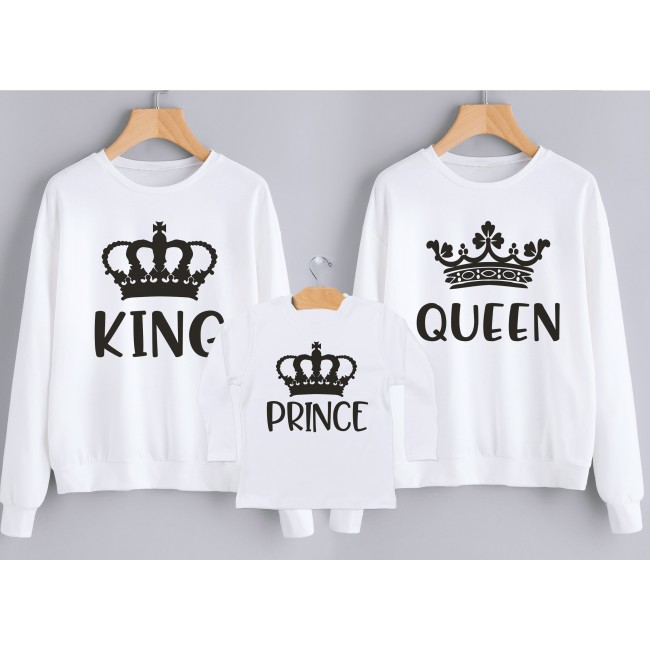 tshirts di Coppia - Her King &  His Queen Carte