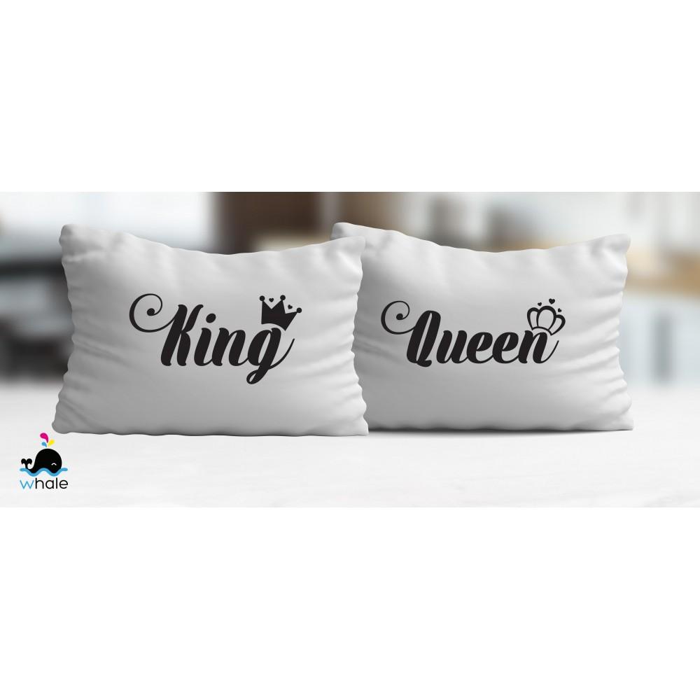 Coppia di Cuscini Topolino & Minnie Personalizzato