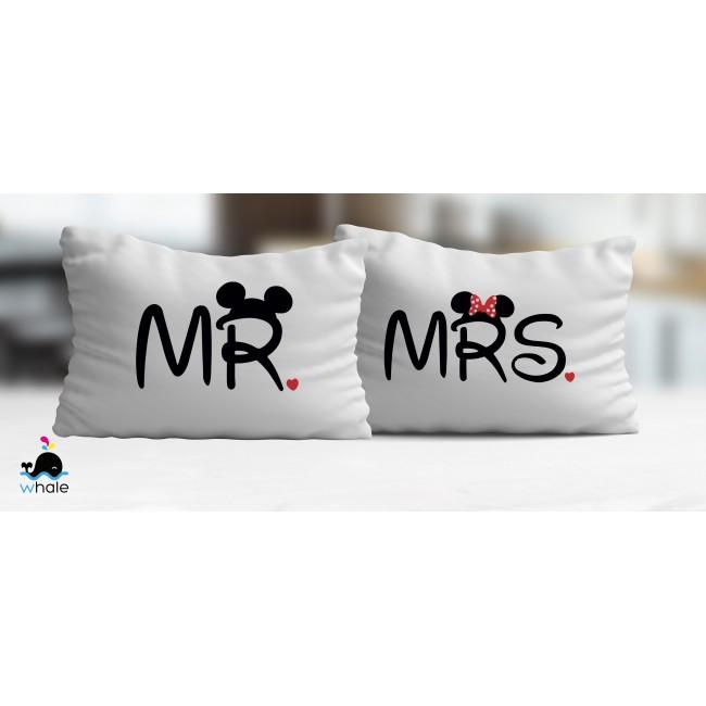 Coppia di Cuscini Mr.&Mrs.
