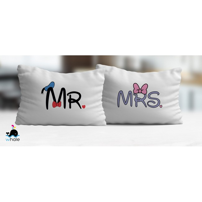 Coppia di Cuscini Mr.&Mrs. Donald